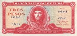 Cuba 3 Pesos, P-107b (1988) - UNC - Kuba