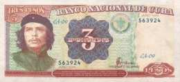 Cuba 3 Pesos, P-113 (1995) - UNC - Cuba