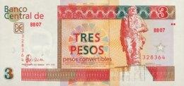 Cuba 3 Pesos Convertibles, P-FX47 (2006) - UNC - Cuba
