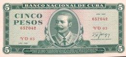 Cuba 5 Pesos, P-103c (1987) - UNC - Cuba