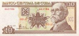 Cuba 10 Pesos, P-117d (2001) - UNC - Cuba