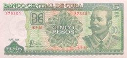 Cuba 5 Pesos, P-116i (2006) - UNC - Cuba