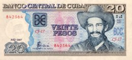 Cuba 20 Pesos, P-122d (2007) - UNC - Kuba