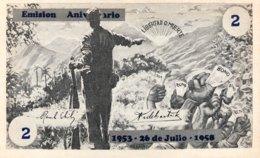 Cuba 2 Pesos, P-NL (1959) Fidel Castro Guerilla Money - UNC - Cuba