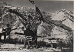 Bardonecchia (Torino): Seggiovia (Chair Lift, Telesiege, Sessellift). Viaggiata 1958 - Cartoline