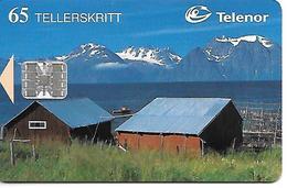 CARTE-PUCE-NORVEGE-SC7-4/96-CABANNES PECHEURS-TBE - Norvège