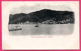 Cpa - Antilles - Town And Harbour - St Thomas - Saint Thomas - Port - Ville - Paquebot - Vierges (Iles), Amér.