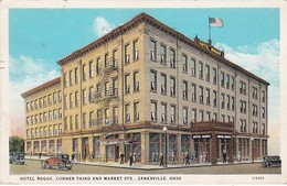 Ohio Zanesville Hotel Rogge Corner Third And Market Streets 1937 - Zanesville