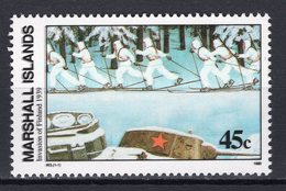 MARSHALL ISLANDS - 1989 History Of The Second World War - Invasion Of Finland, 1939  M456 - Marshall