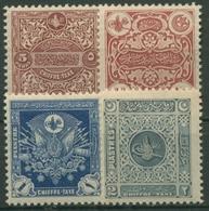 Türkei 1914 Portomarken: Türkische Wappenmotive P 43/46 Mit Falz - Turkey