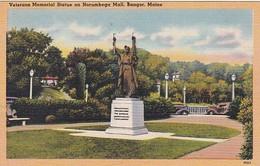 Maine Bangor Veterans Memorial Statue On Norumbega Mall - United States