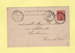 Convoyeur - Vichy à St Germain - 21 Juin 1902 - Cpa De Vichy Source De L Hopital - Marcophilie (Lettres)