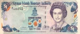 Cayman Islands 1 Dollar, P-30a (2003) - Commemorative Issue - UNC - Kaimaninseln