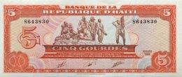 Haiti 5 Gourdes, P-255a (1989) - UNC - Haïti