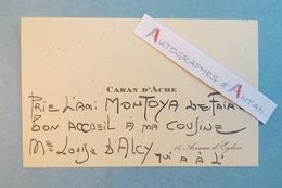 CDV CARAN D'ACHE Dessinateur Né à Moscou - Gabriel Montoya - D'Alcy - Rare Carte De Visite Autographe - Emmanuel Poiré - Autographes