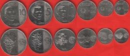 "Philippines Set Of 6 Coins: 1 Sentimo - 10 Piso 2017-2018 ""New Generation"" UNC - Philippines"