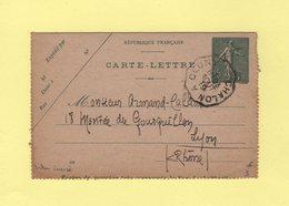 Convoyeur - Chalon  Cluny - 23 Aout 1919 (dateur Inverse) - Marcophilie (Lettres)