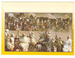 Maroc. Enveloppe Illustrée. Fantasia Et Femme Berbère - Autres Collections