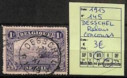 [823232]Belgique 1915 - N° 145, Desschel, Relais, Concours - Postmark Collection