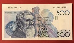 Belgique - Billet De Banque - 500 Francs - TTB - 500 Frank