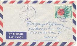 Lebanon Air Mail Cover Sent To Sweden 12-8-1965 Single Franked - Lebanon