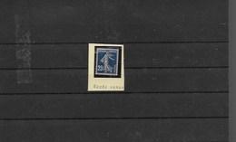 Variété Impression Recto Verso Sur Timbre Neuf Xx 25c Semeuse N° 140 S - Errors & Oddities