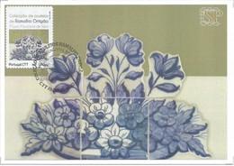 Postal Maximo Selo Personalizado Azulejos Faro Algarve Portugal -  Tuiles Tiles Piastrelle Património Maxicard Maximum - Sin Clasificación