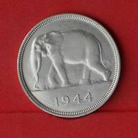 BELGIAN CONGO 50 FRANCS 1944 - 17,5 GRS - 0,500 SILVER   KM#  27 - (Nº26590) - 1934-1945: Leopold III