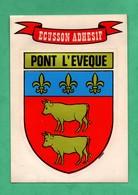 14 Calvados Pont L ' Eveque Ecusson Adhesif Blason De Ville - Pont-l'Evèque
