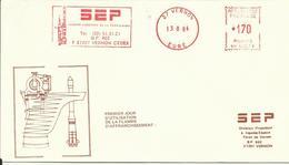 ESPACE - 1er Jour D'Utilisation De La Flamme D'affranchissement SEP - 13/08/1984 - FDC & Gedenkmarken