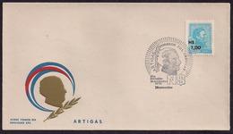 Uruguay - FDC - 1975 - Gral Jose Artigas - Uruguay