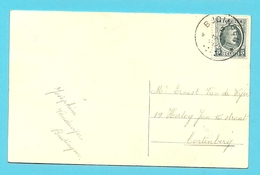 193 Op Kaart Met Sterstempel (Relais) * BUDINGEN * - 1922-1927 Houyoux