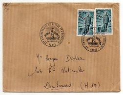 """1965-Lettre De Paris Pour Dieulouard-54-Beau Cachet Provisoire""""20ème Anniv Du Retour Des Déportés""""-timbres Concordants - Marcophilie (Lettres)"""