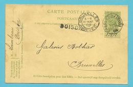 Entier Met Stempel CHARLEROY (SUD) Met Naamstempel (Griffe D'origine) DOISCHE - Postmark Collection