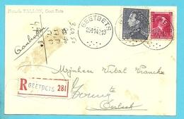 528+529 Op Kaart Aangetekend Stempel GEETBETS - 1936-1951 Poortman