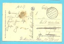 Kaart Met Duitse Brugstempel WAULSORT Op 15/8/17 - WW I