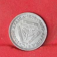 SOUTH AFRIKA 3 PENCES 1956 - 1,41 GRS - 0,500 SILVER   KM#  47 - (Nº26603) - Afrique Du Sud