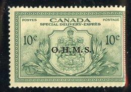 W-7946 Canada 1950 Scott.# EO1** Cut Right Margin ( Cat.$24.00 )  - Offers Welcome! - Officials
