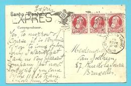 74 Op Kaart Per EXPRES Met Stempel CASTEAU-LEZ-NEUVILLES - 1905 Thick Beard
