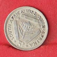 SOUTH AFRIKA 3 PENCES 1955 - 1,41 GRS - 0,500 SILVER   KM# 47 - (Nº26605) - Afrique Du Sud