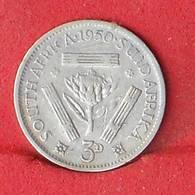 SOUTH AFRIKA 3 PENCES 1950 - 1,41 GRS - 0,800 SILVER    KM# 35,1 - (Nº26606) - Afrique Du Sud