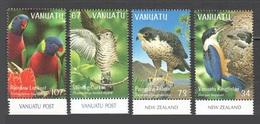 Vanuatu 1998 Yv. 1069/1072 ** Oiseaux Birds Pajaros Vogel Uccelli Kingfisher Falcon Faucon Martin Pecheur Perroquets Bdf - Vanuatu (1980-...)
