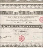 Th2PETROLE : MORENI - Action De 100 Frs1925  (08) - Actions & Titres