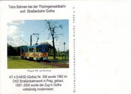 TARJETA DEL TRANVIA KT 4 D-MOD (GOTHA) Nr. 306 (ALEMANIA). (363) - Tranvía
