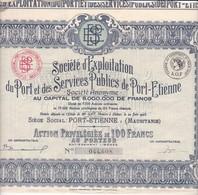 Th2PORT : PORT-ETIENNE - Action P. De 100 Frs1925 (10) - Sonstige