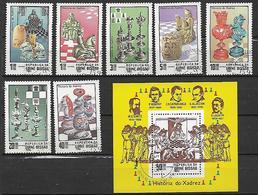 GUINEA BISSAU 1983 GIOCO DEGLI SCACCHI YVERT.194-200 + BF 39 USATA XF - Guinea-Bissau