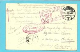 Kaart Stempel MAGDEBURG , Stempel GEPRUFT Naar HABAY-LA-NEUVE Op 2/5/16 - WW I