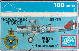GIBRALTAR - 75th Anniversary Of The Royal Air Force, CN : 308A, Tirage 20000, Used - Army