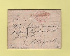 Langonegro - 1825 - Courrier De Maratea Pour Naples - 1. ...-1850 Prefilatelia