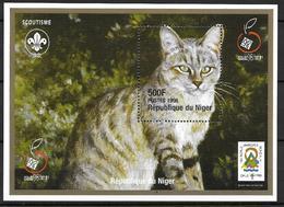 Niger 1998 Bloc 93 Avec Chats - Chats Domestiques